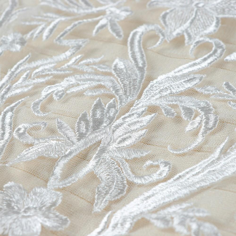White Halter Sleeveless Over Knee Lace Up Mesh Sexy Bandage Dress HB5346-White