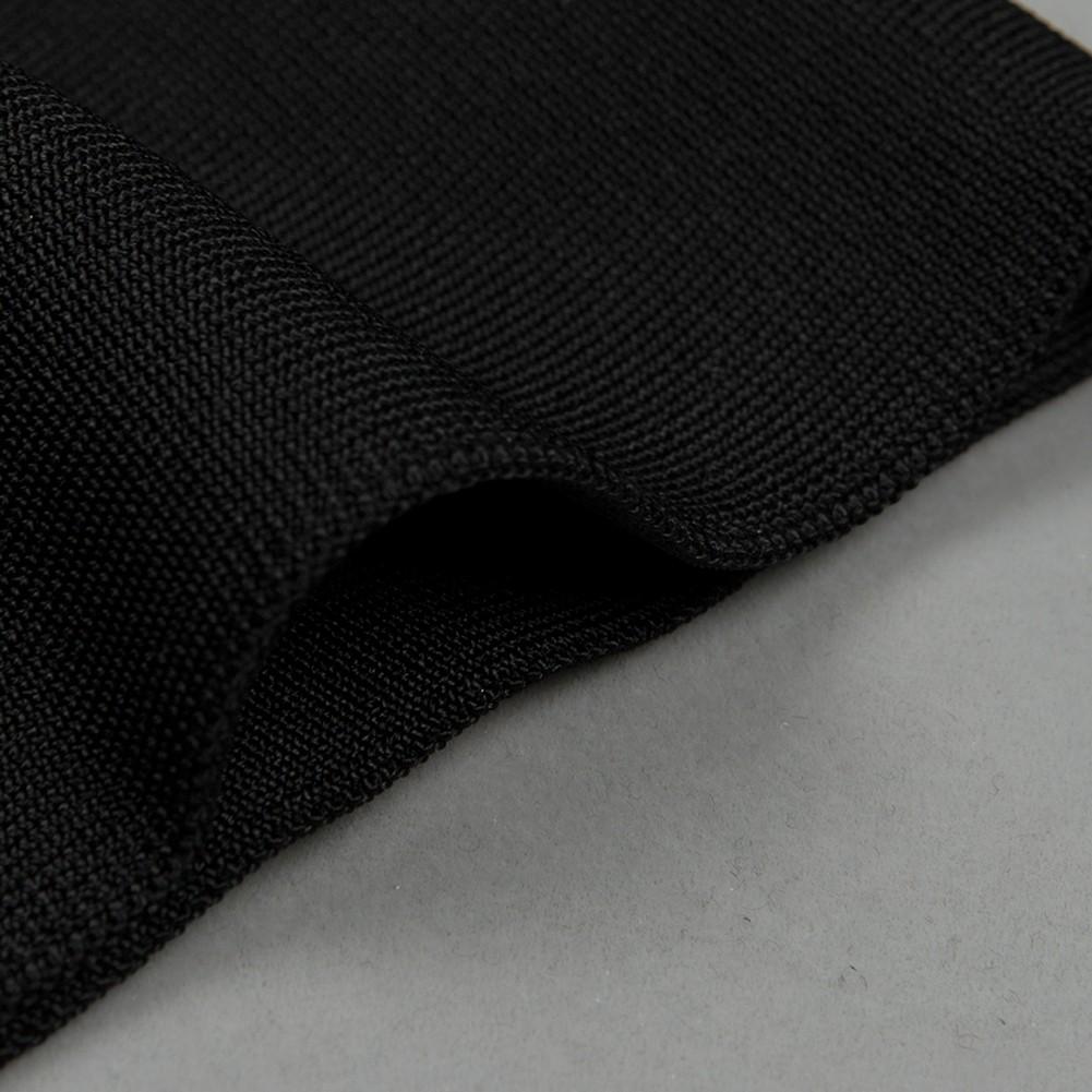 Black Strapy Sleeveless Mini Plain High Quality Bandage Dress HB5348-Black