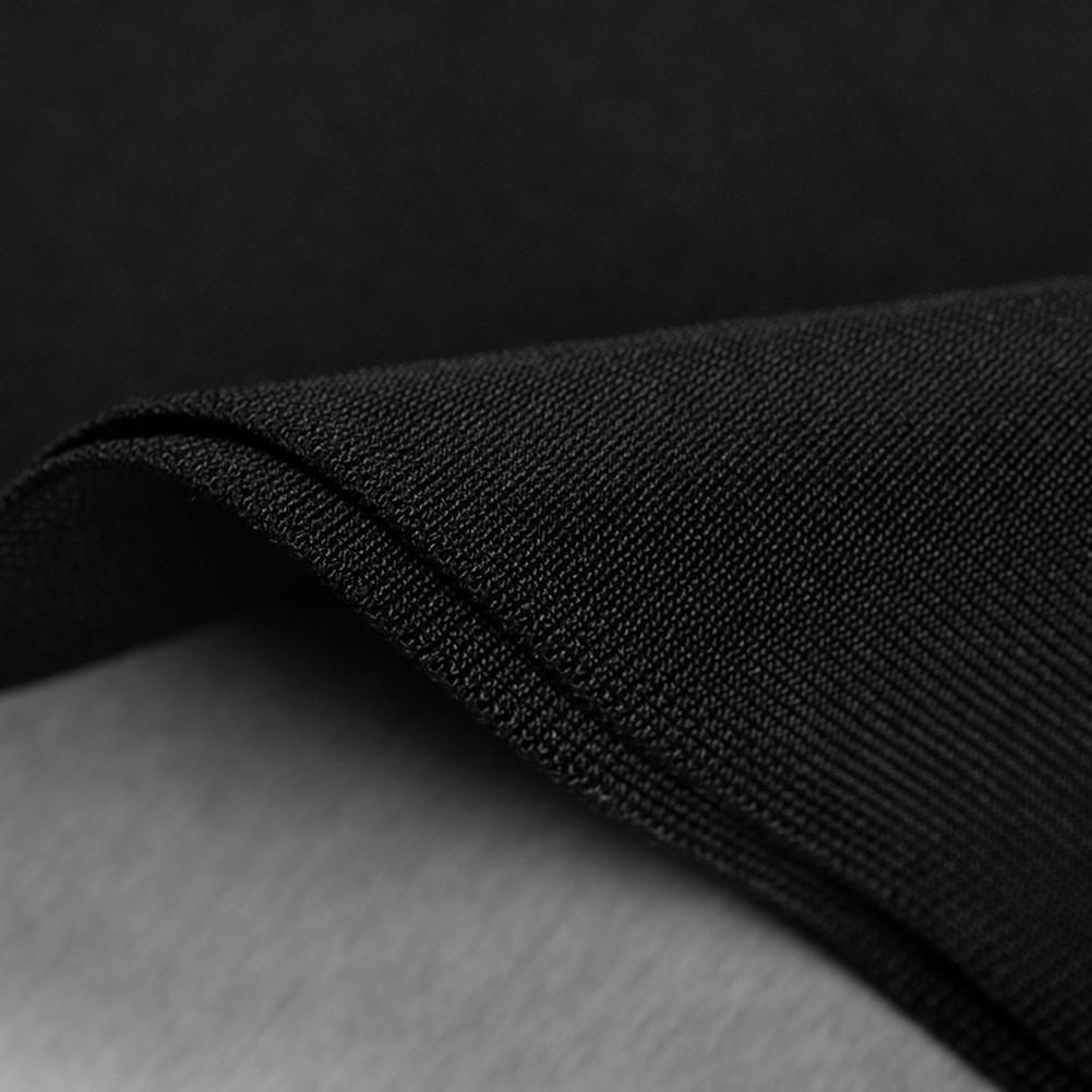 Black Strapy Sleeveless Over Knee Meshed Embriodery Fashion Bandage Dress HB5391-Black