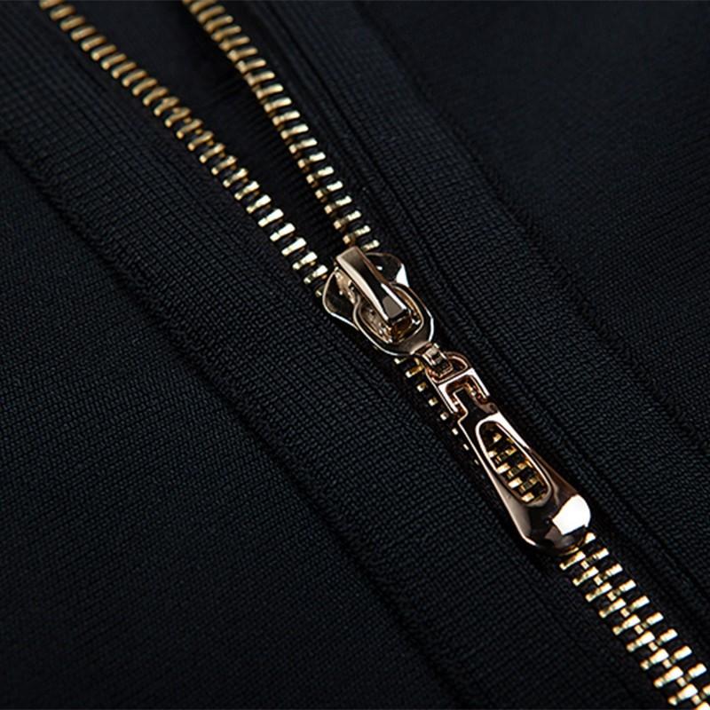 Halter Sleeveless 2 Piece High Neck Wholesale Black Good Quality Bandage Dress HB632-black