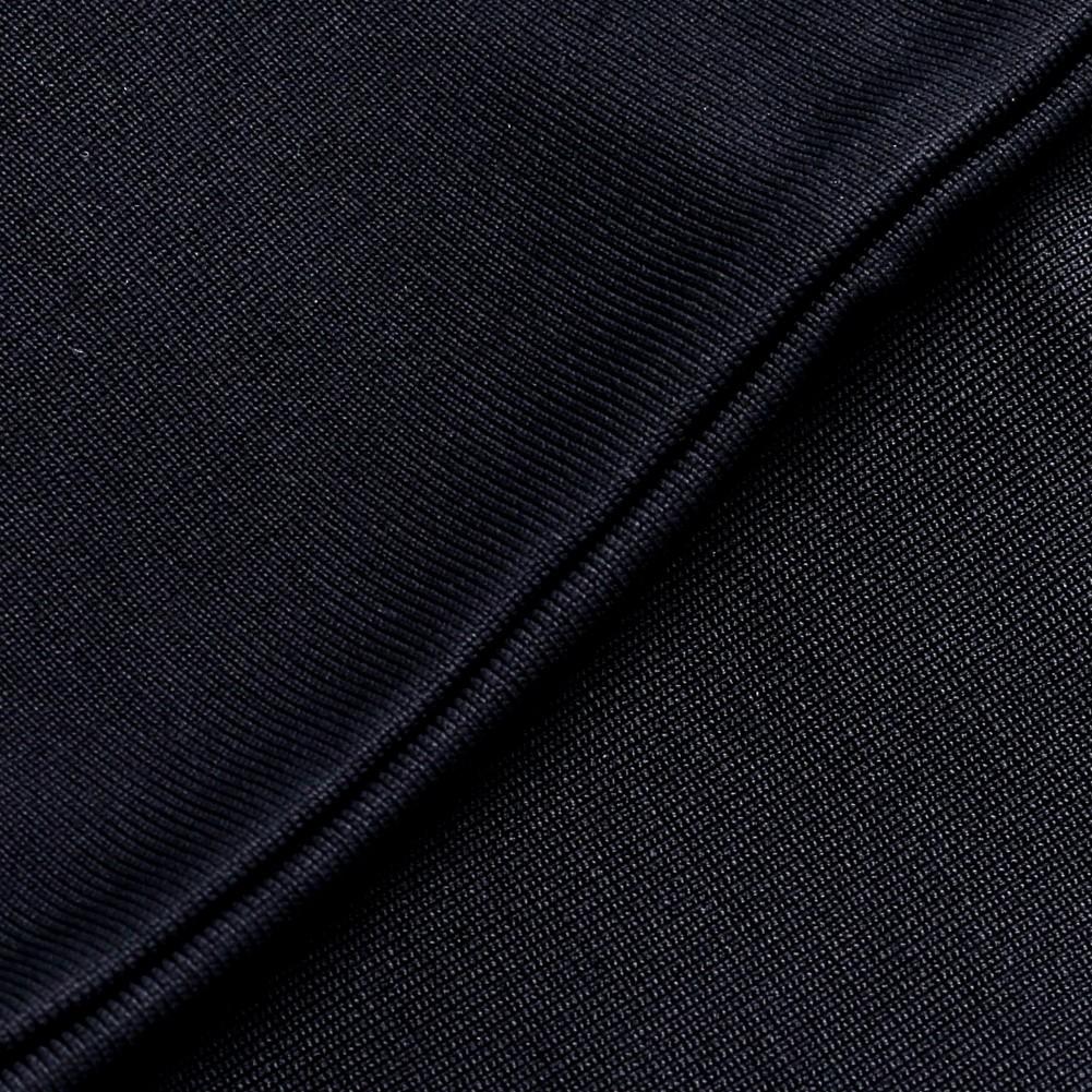 Rayon - Black Strapless Sleeveless Mini Plain Scollop Evening Bandage Dress HJ427-Black
