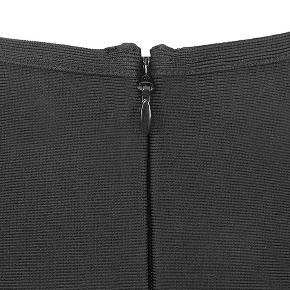 Black Round Neck Sleeveless Mini Side Lace Up Fashion Bandage Top HK031-Black