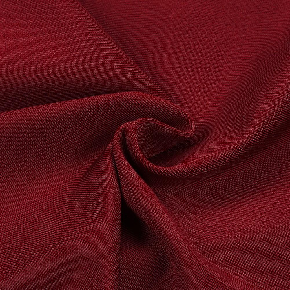 Wine V Neck Sleeveless Mini Simple Fashion Bandage Dress HK036-Wine