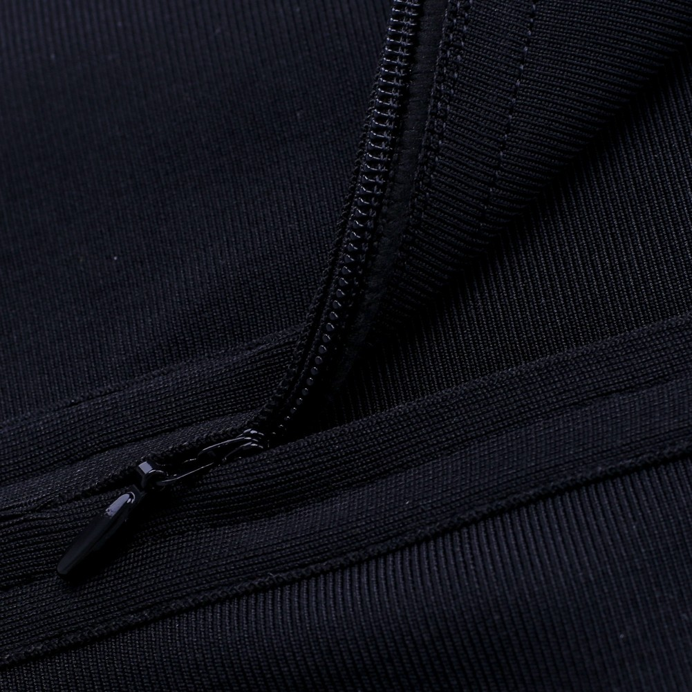 Black Halter Sleeveless Mini Cut Out Backless Sexy Bandage Dress HQ214-Black