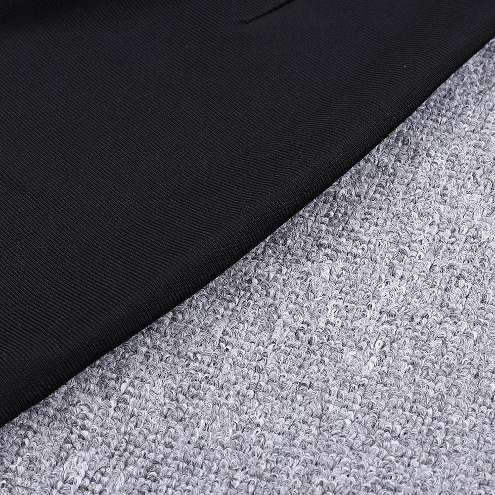 Rayon - Black Strapy Sleeveless Lace Up High Quality Bandage Jumpsuit H0099-Black