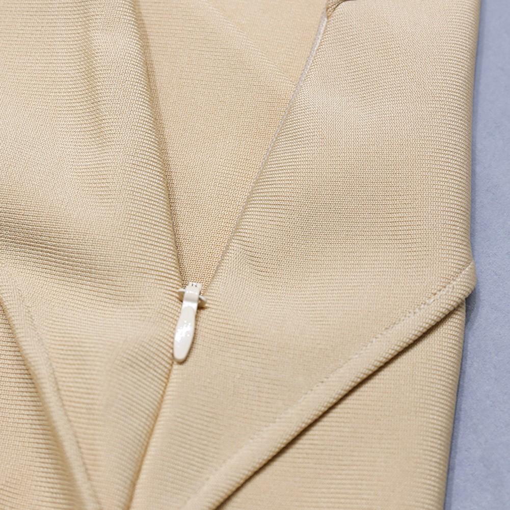 Apricot Backless Striped Mini Sleeveless Strappy Bandage Dress PZC1173-Apricot