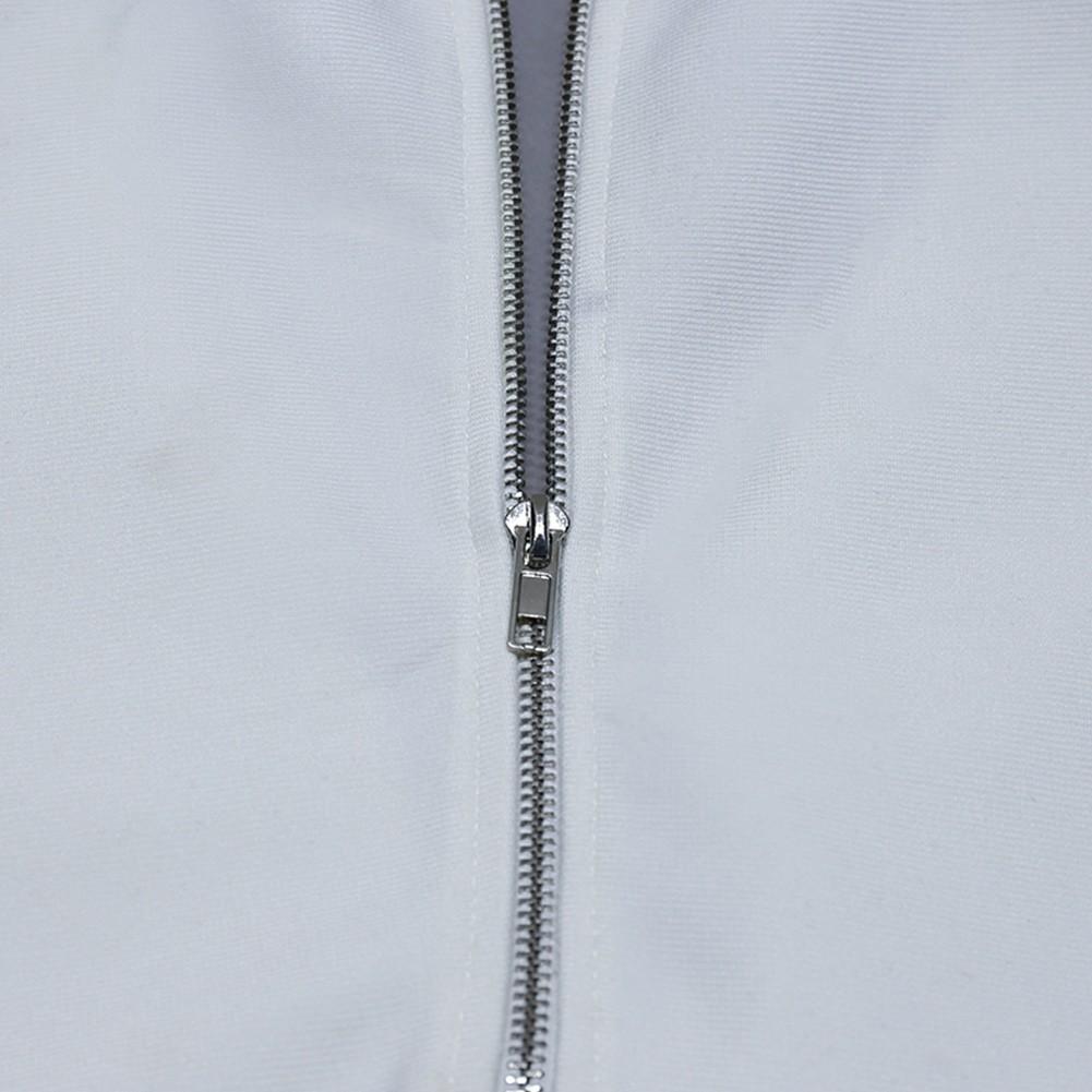White Tie Hollow out Midi Short Sleeve V Neck Bandage Dress PZL2780-White