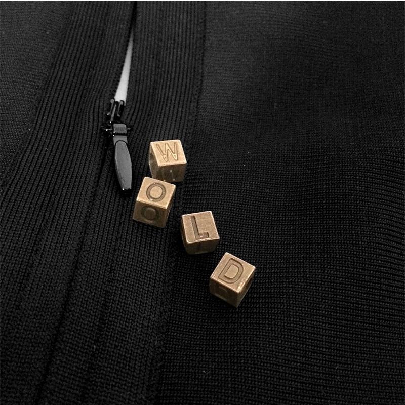 Rayon - Party Round Neck Sleeveless Mini Black Cutout Bandage Dress