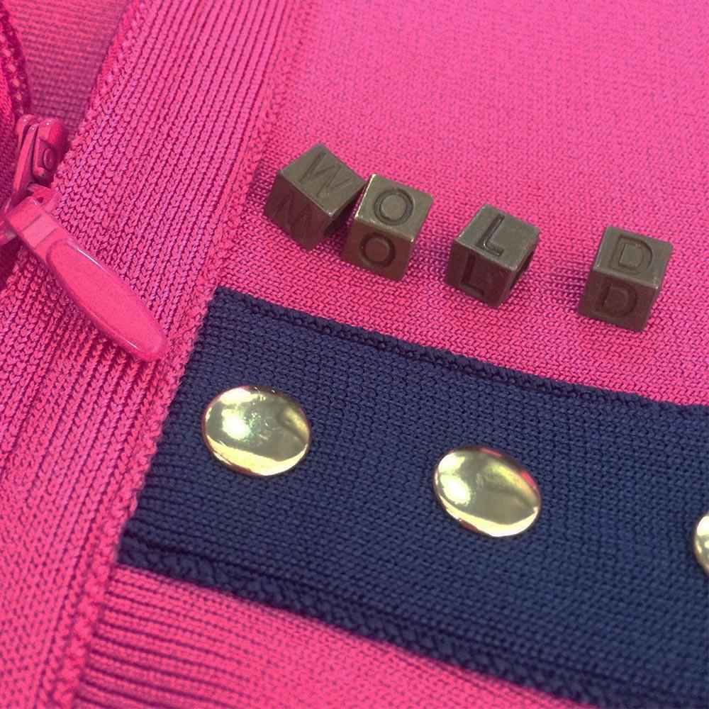 Rayon - Party Strapless Sleeveless Mini Rose Scallop Plain Bandage Dress HJ341-Rose