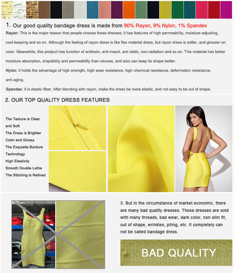 Trustable Bandage Dress Features
