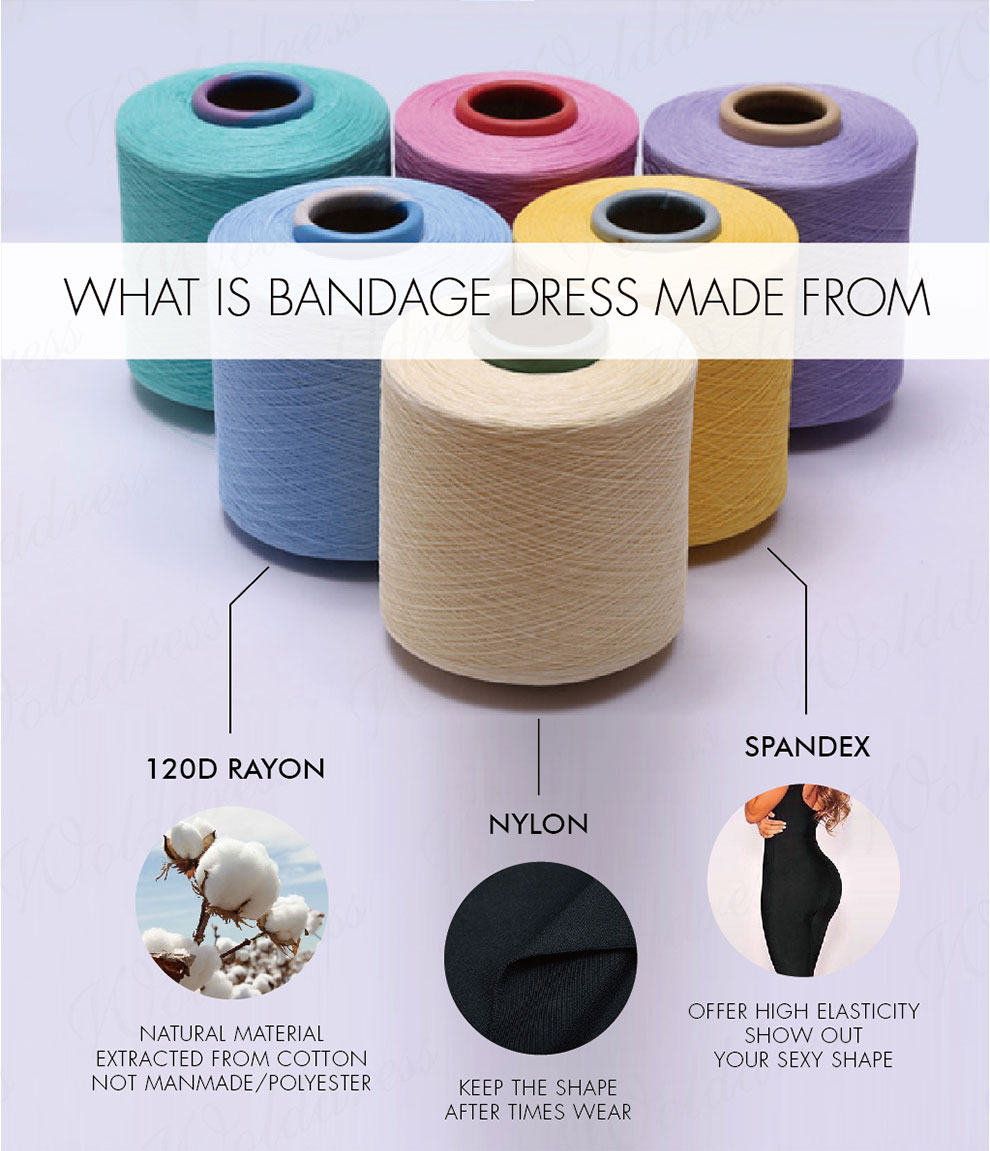 What is bandage dress made from