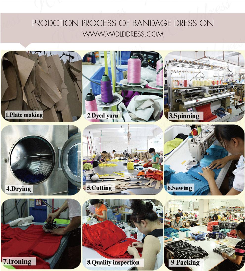 Bandage dresses prodction process