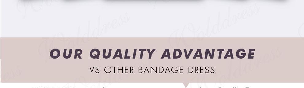 Bandage dress Quality inspection